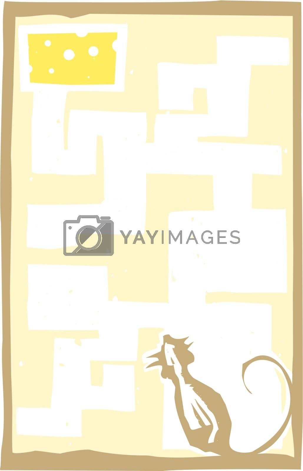 Small Mouse in Maze by Xochicalco