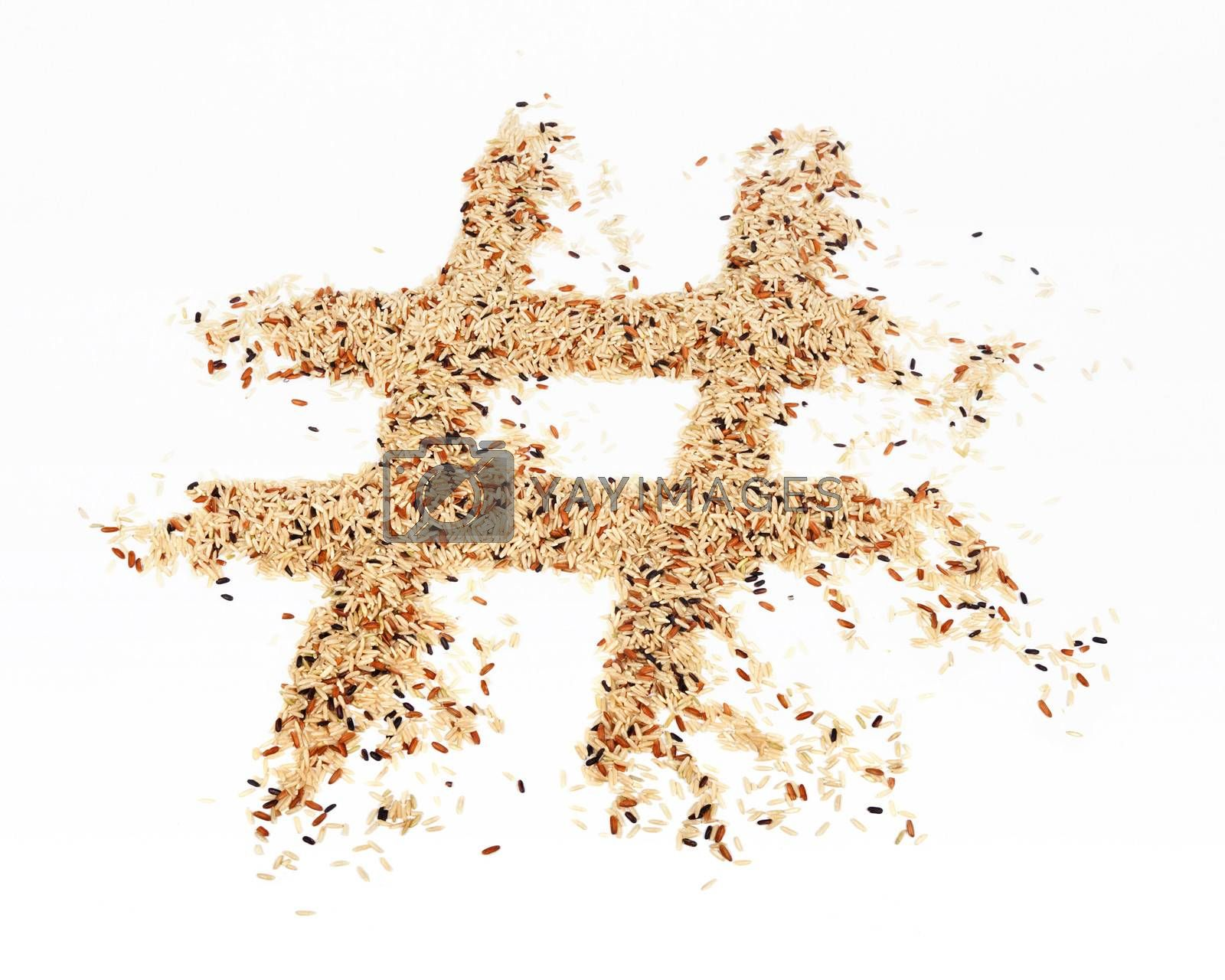 Royalty free image of Rice Hashtag by mothy20