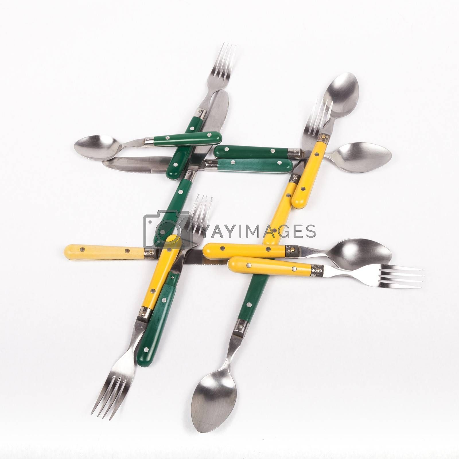Royalty free image of Utensils Hashtag by mothy20