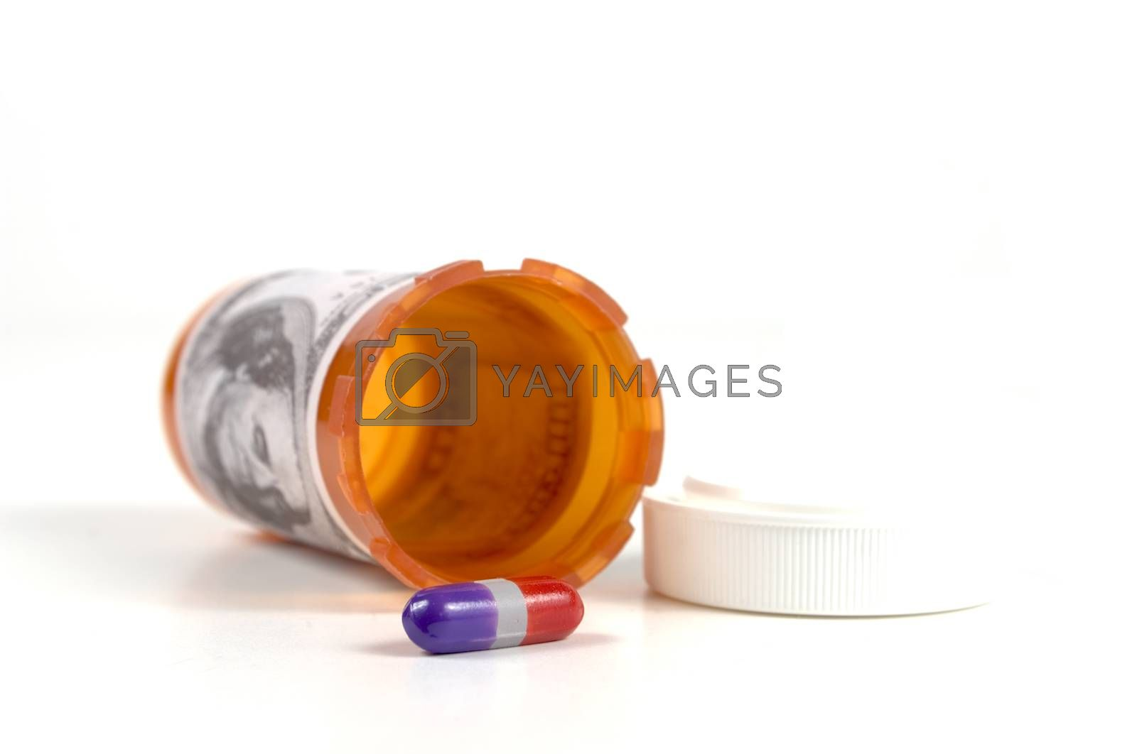 Royalty free image of Pill and Bottle by mothy20