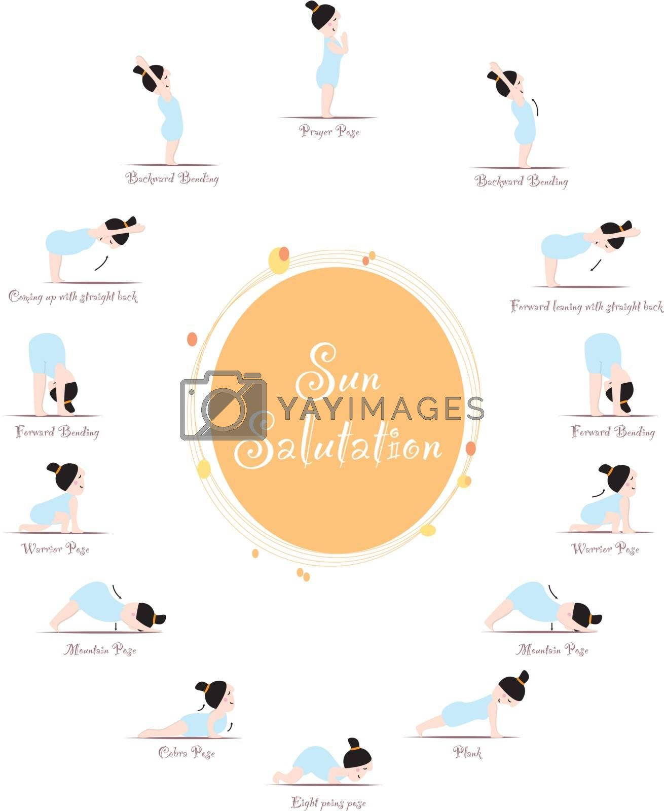 Illustration for Yoga practicing
