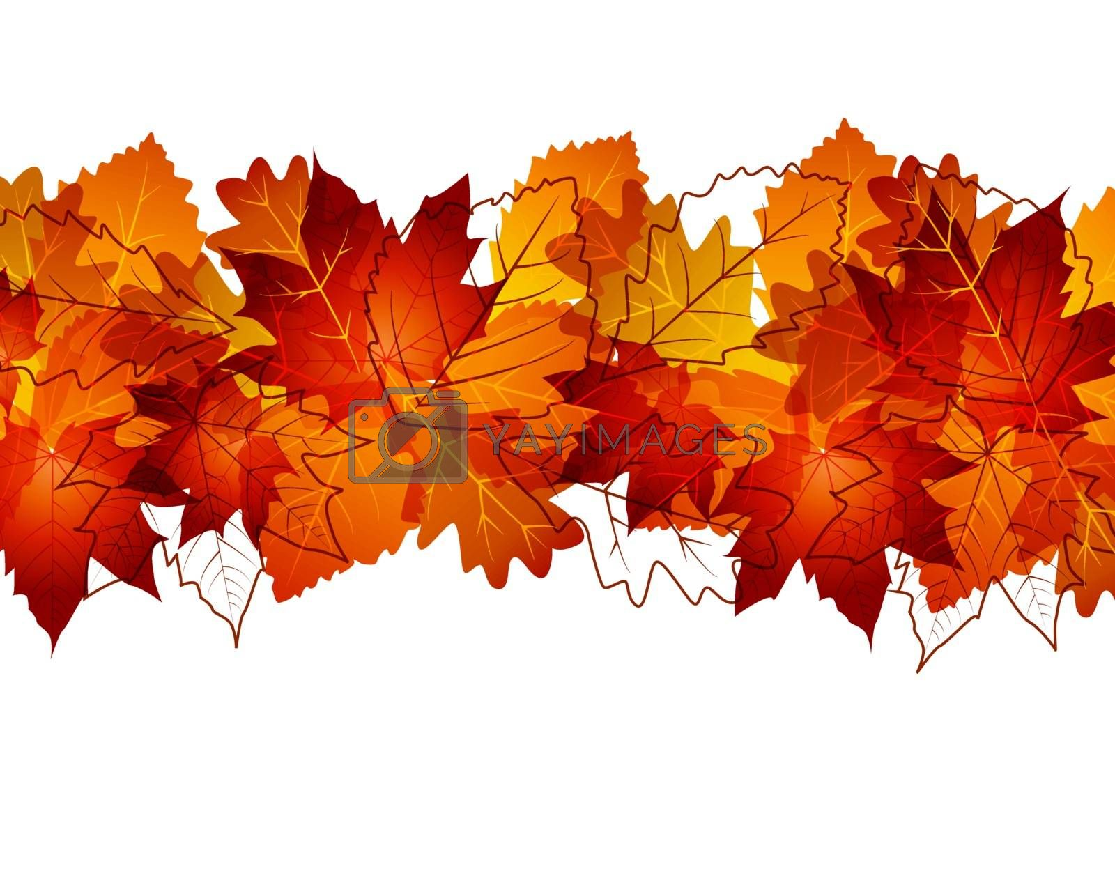vector background with colored leaves