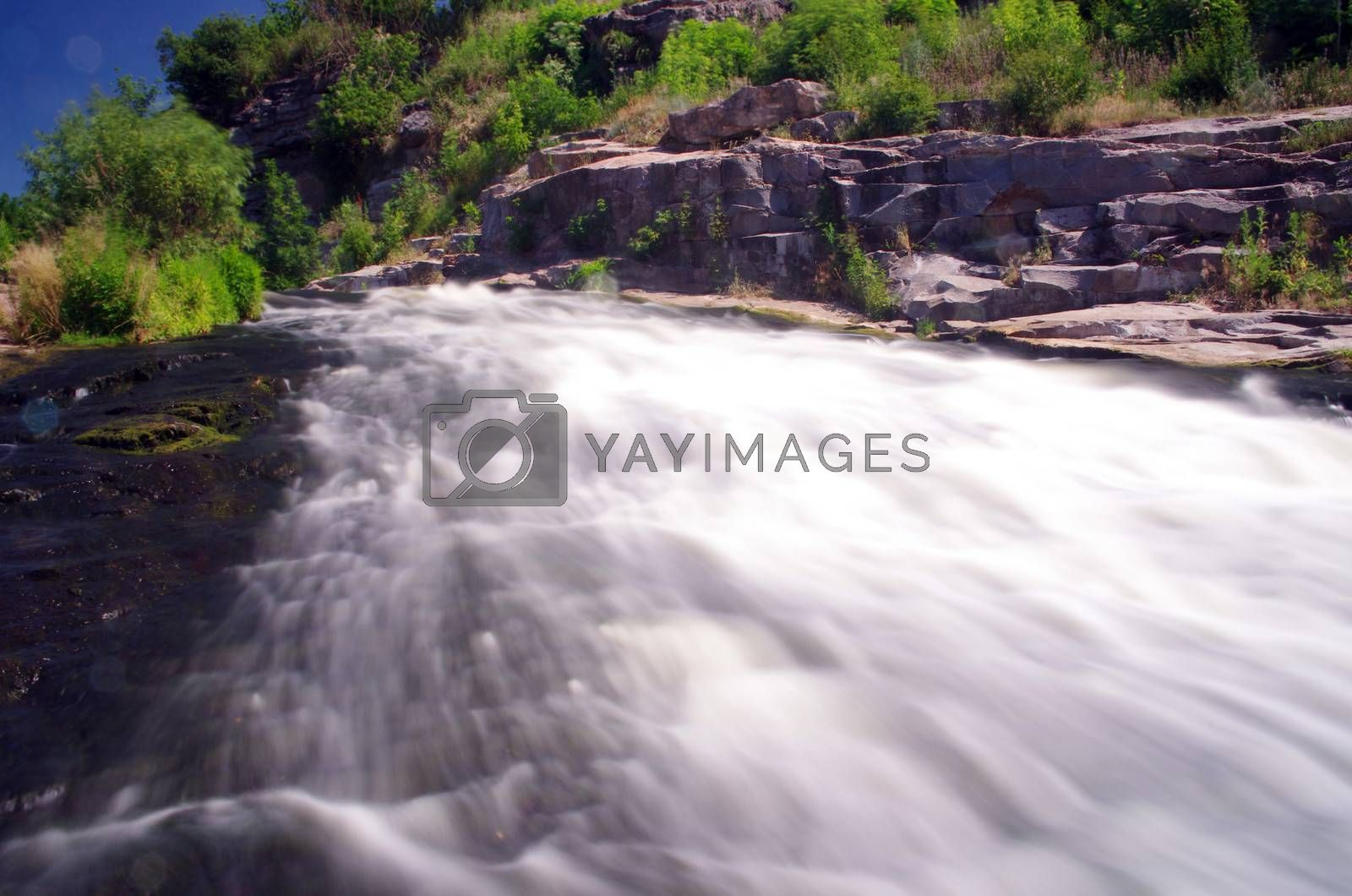 A beautiful flowing river in mount rainer