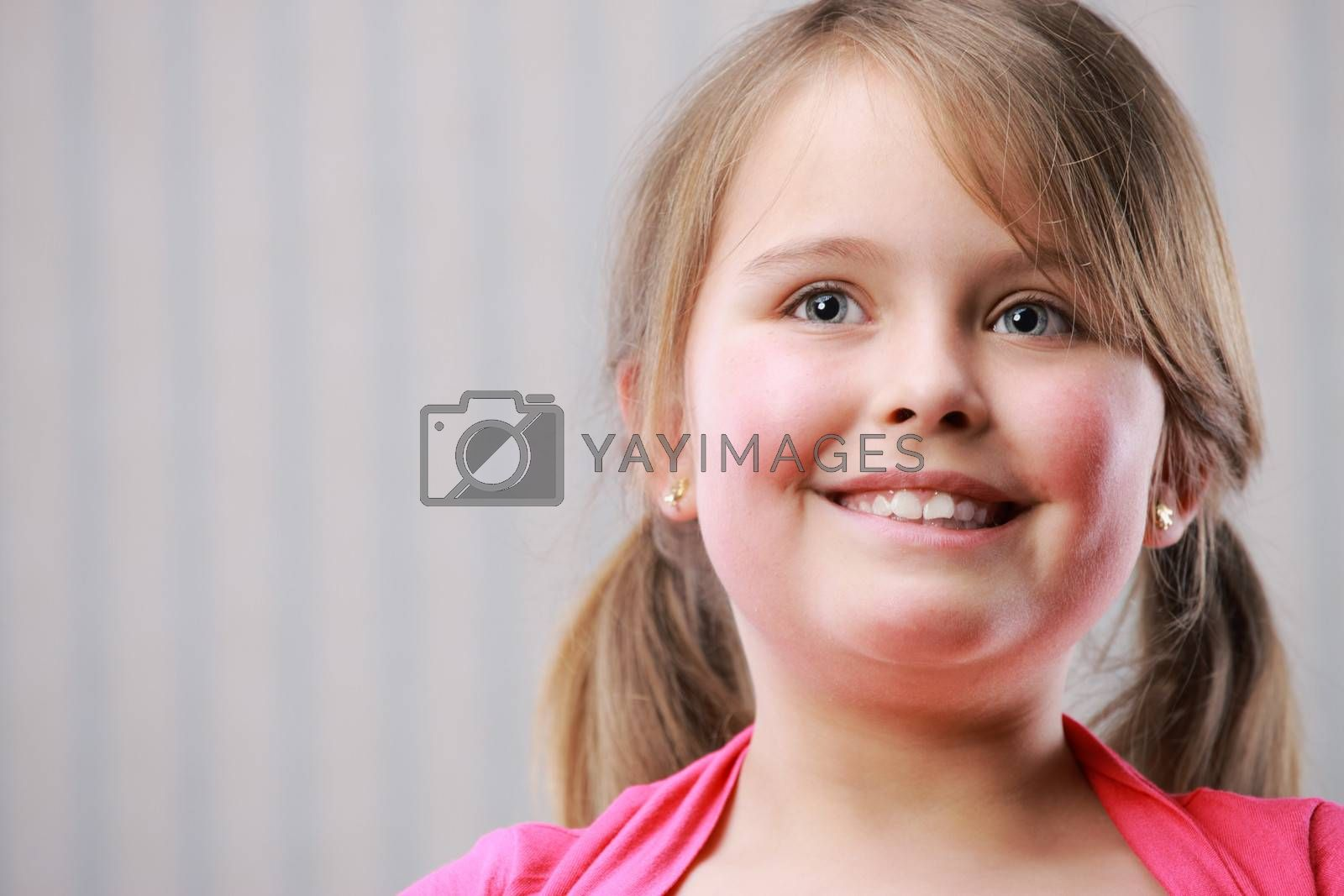 Portrait of a little beautiful girl