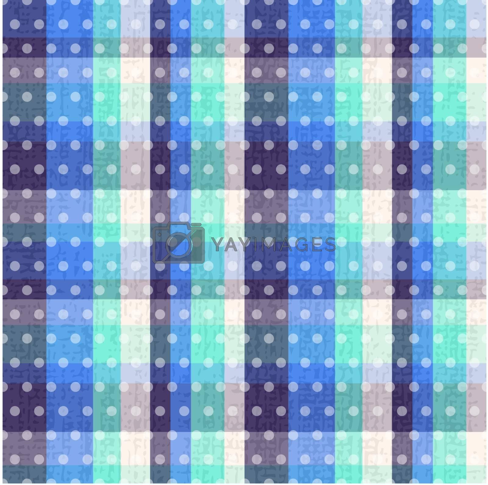 seamless plaid polka dots texture