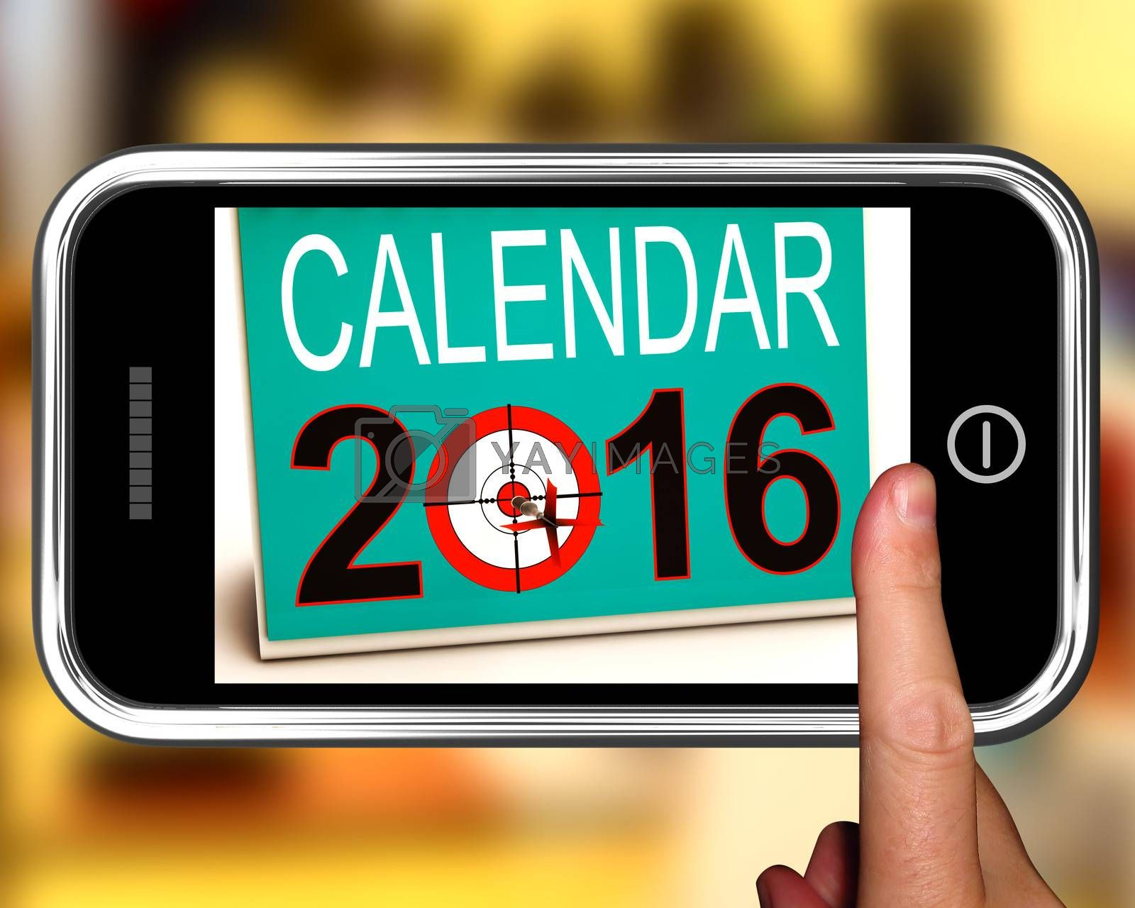 Calendar 2016 On Smartphone Shows Future Calendar Or Annual Planning