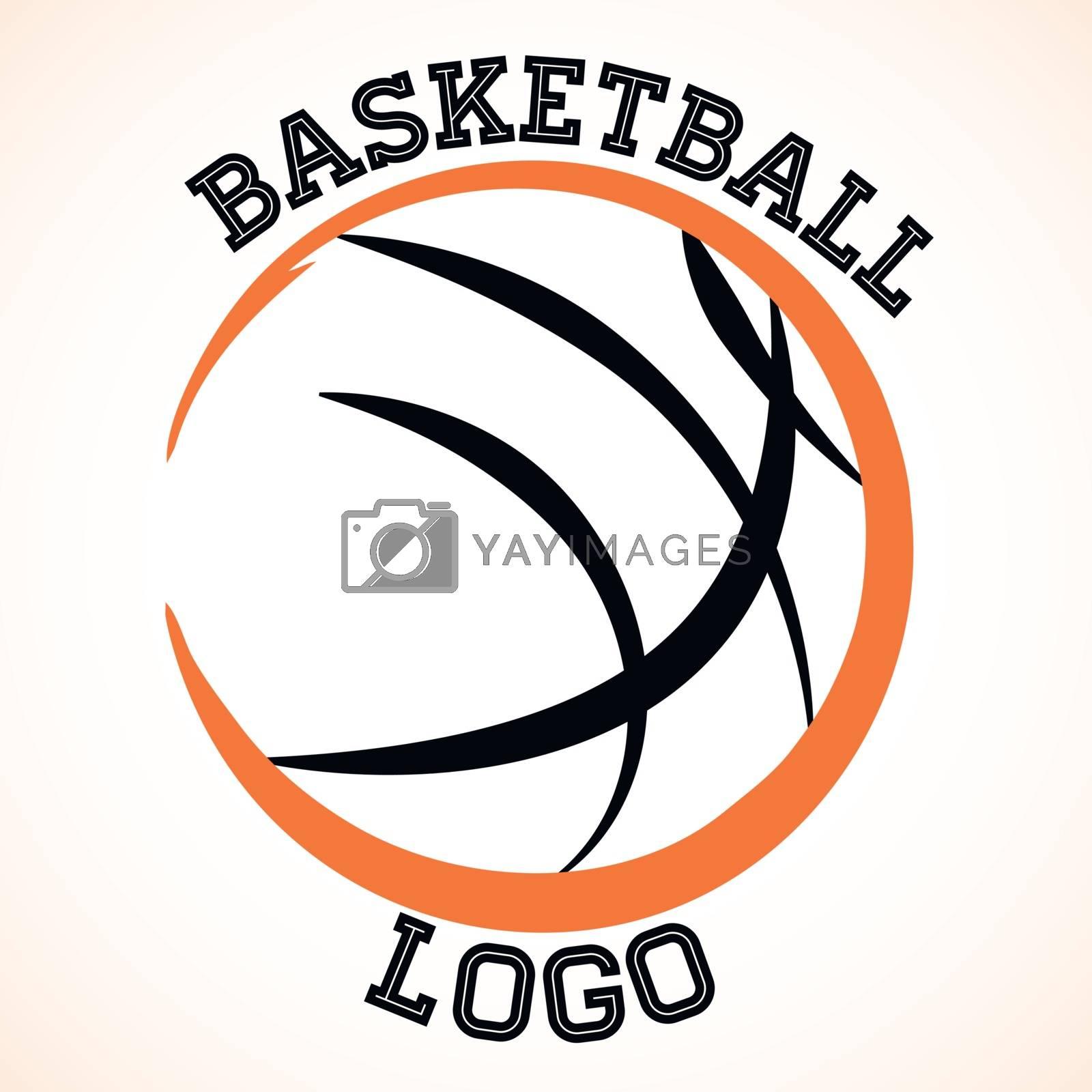 Vector basketball team logo on white background