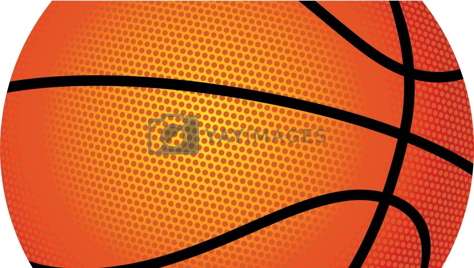 Vector illustration of a basketball on white background