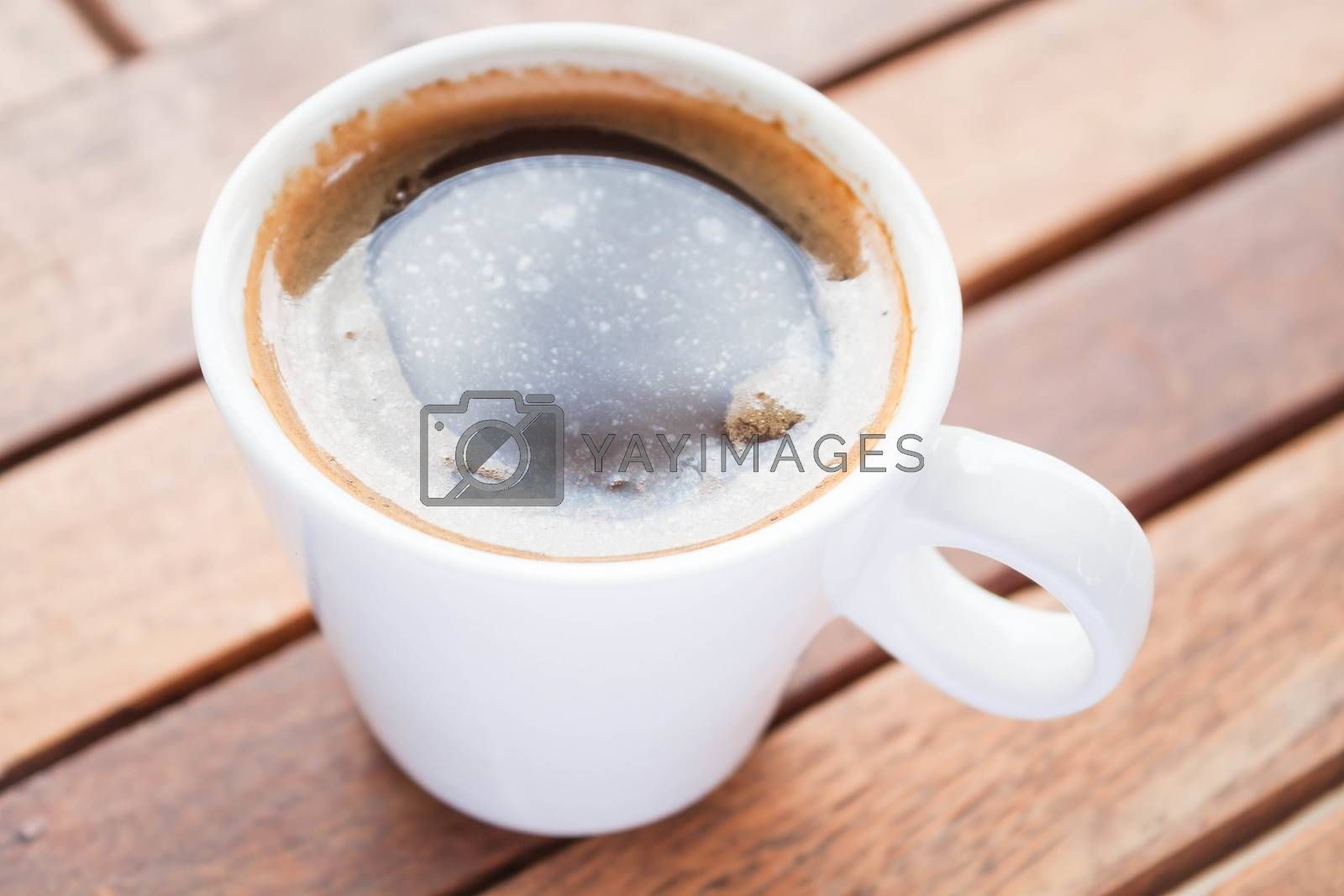 Refreshing drink with a cup of hot espresso
