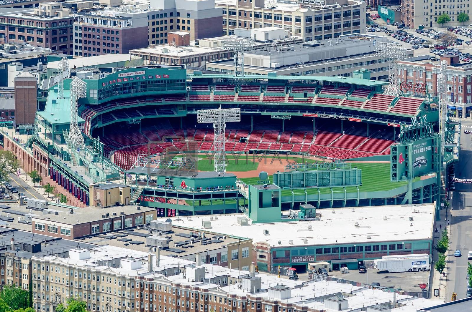 Aerial View of Fenway Park, home of the Boston Red Sox