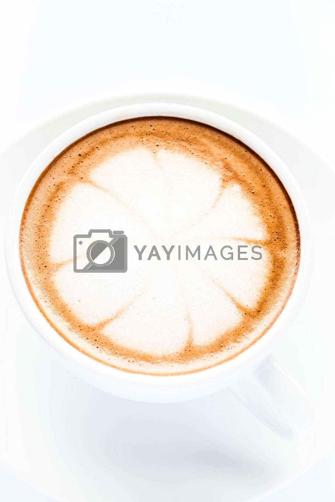 Hot cafe mocha cup isolated on white background