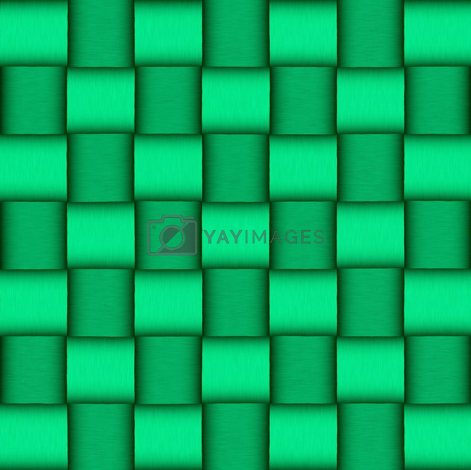 Saint Patrick's day abstract green wicker background
