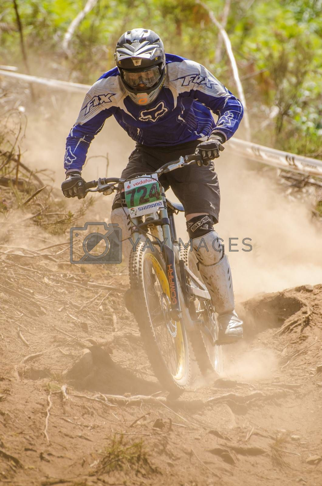 GOIS, PORTUGAL - JUNE 23: Fabio Garcia during the 4th Stage of the Taca de Portugal Downhill Vodafone on june 23, 2013 in Gois, Portugal.