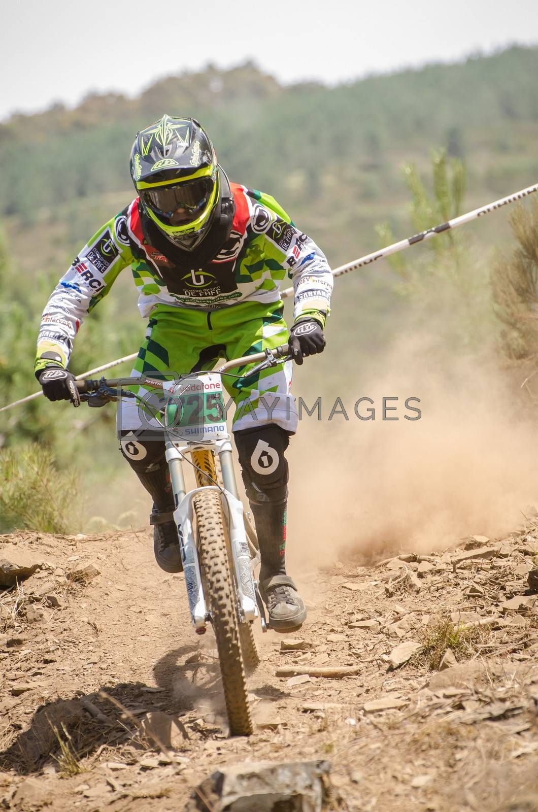 GOIS, PORTUGAL - JUNE 23: Diogo Pinto during the 4th Stage of the Taca de Portugal Downhill Vodafone on june 23, 2013 in Gois, Portugal.