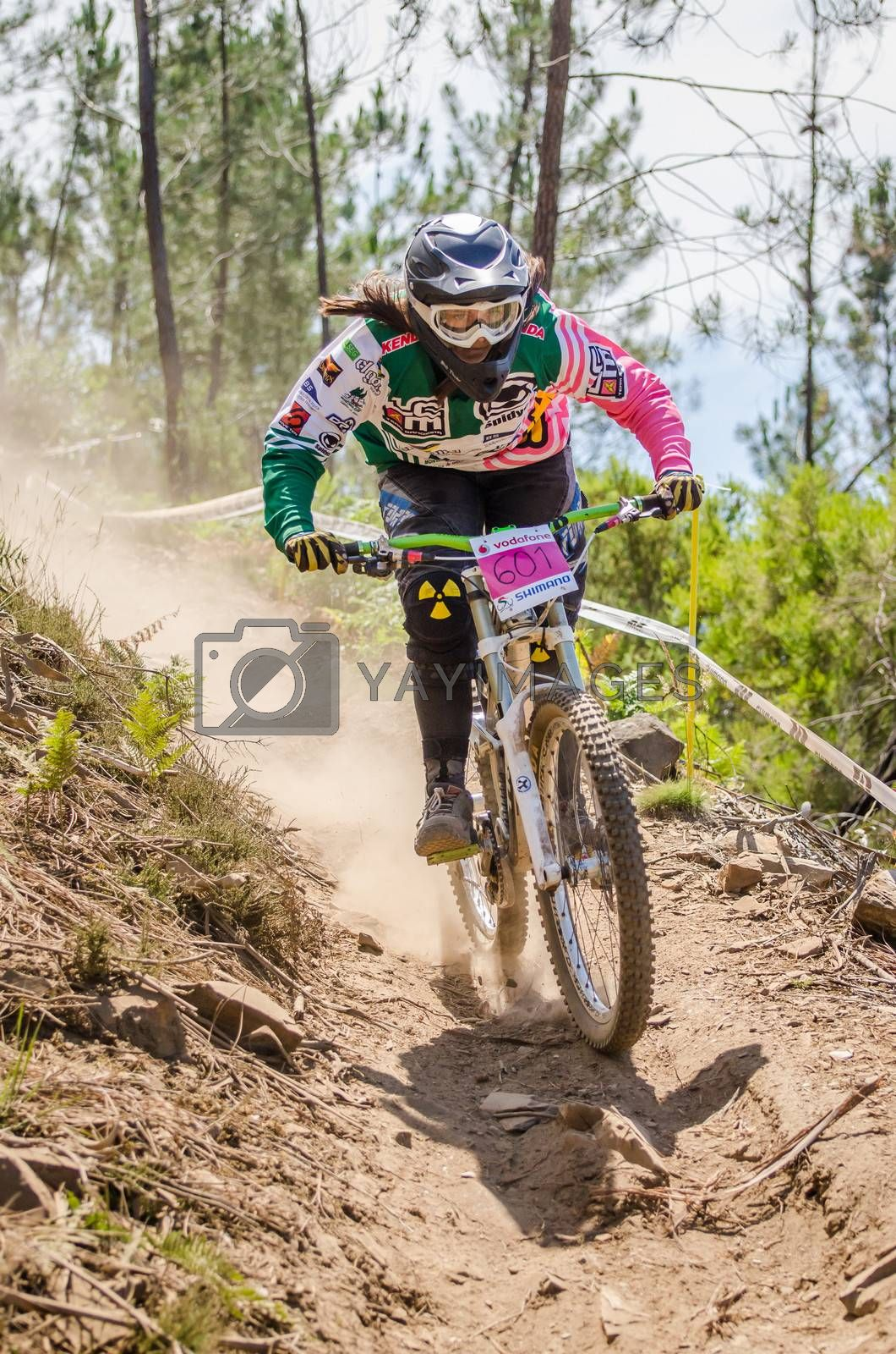 GOIS, PORTUGAL - JUNE 23: Margarida Bandeira during the 4th Stage of the Taca de Portugal Downhill Vodafone on june 23, 2013 in Gois, Portugal.