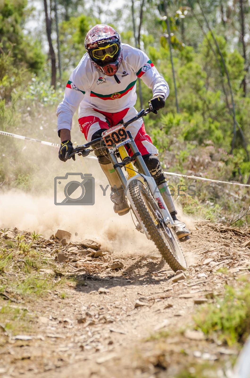 GOIS, PORTUGAL - JUNE 23: Carlos Lopes during the 4th Stage of the Taca de Portugal Downhill Vodafone on june 23, 2013 in Gois, Portugal.