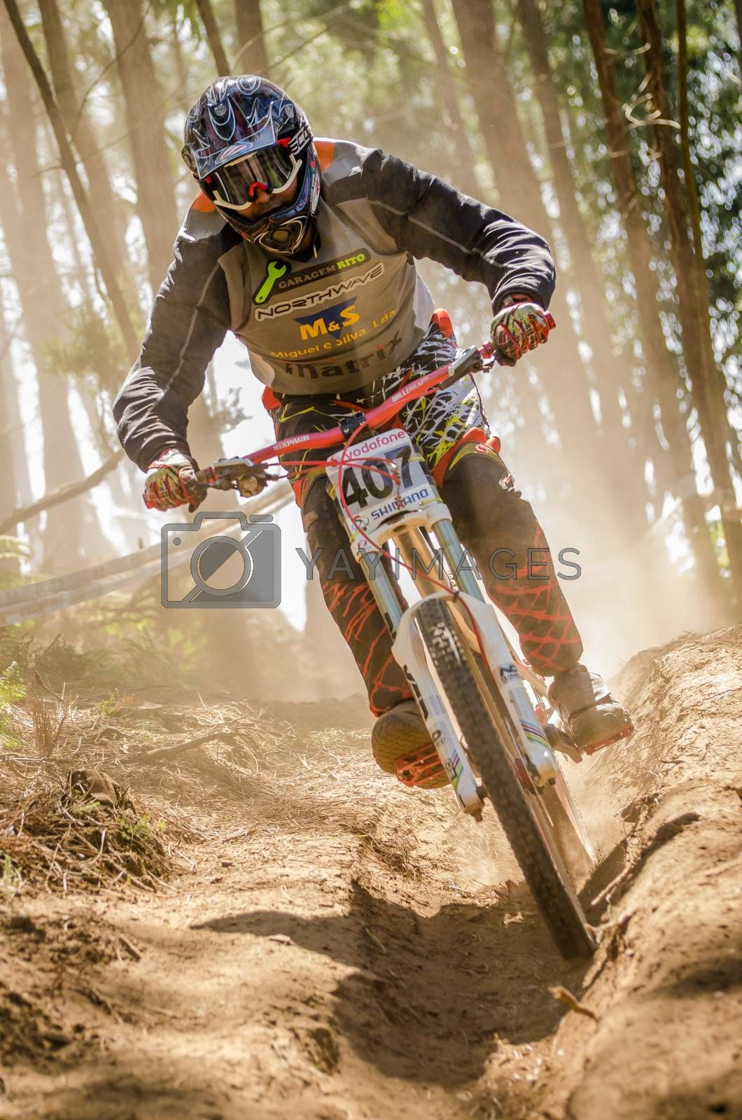 GOIS, PORTUGAL - JUNE 23: Jose Reis during the 4th Stage of the Taca de Portugal Downhill Vodafone on june 23, 2013 in Gois, Portugal.