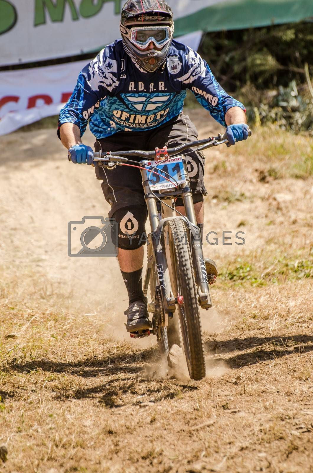 GOIS, PORTUGAL - JUNE 23: Nuno Lopes during the 4th Stage of the Taca de Portugal Downhill Vodafone on june 23, 2013 in Gois, Portugal.