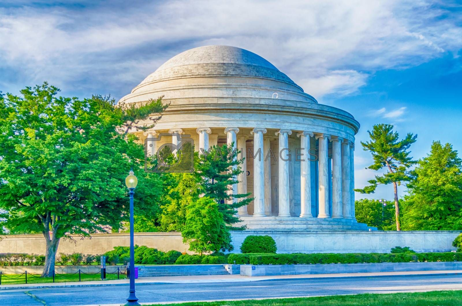 Jefferson Memorial in Washington DC by Marco Rubino