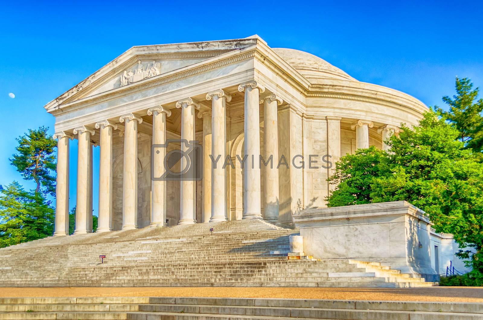 The Jefferson Memorial in Washington DC in daylight