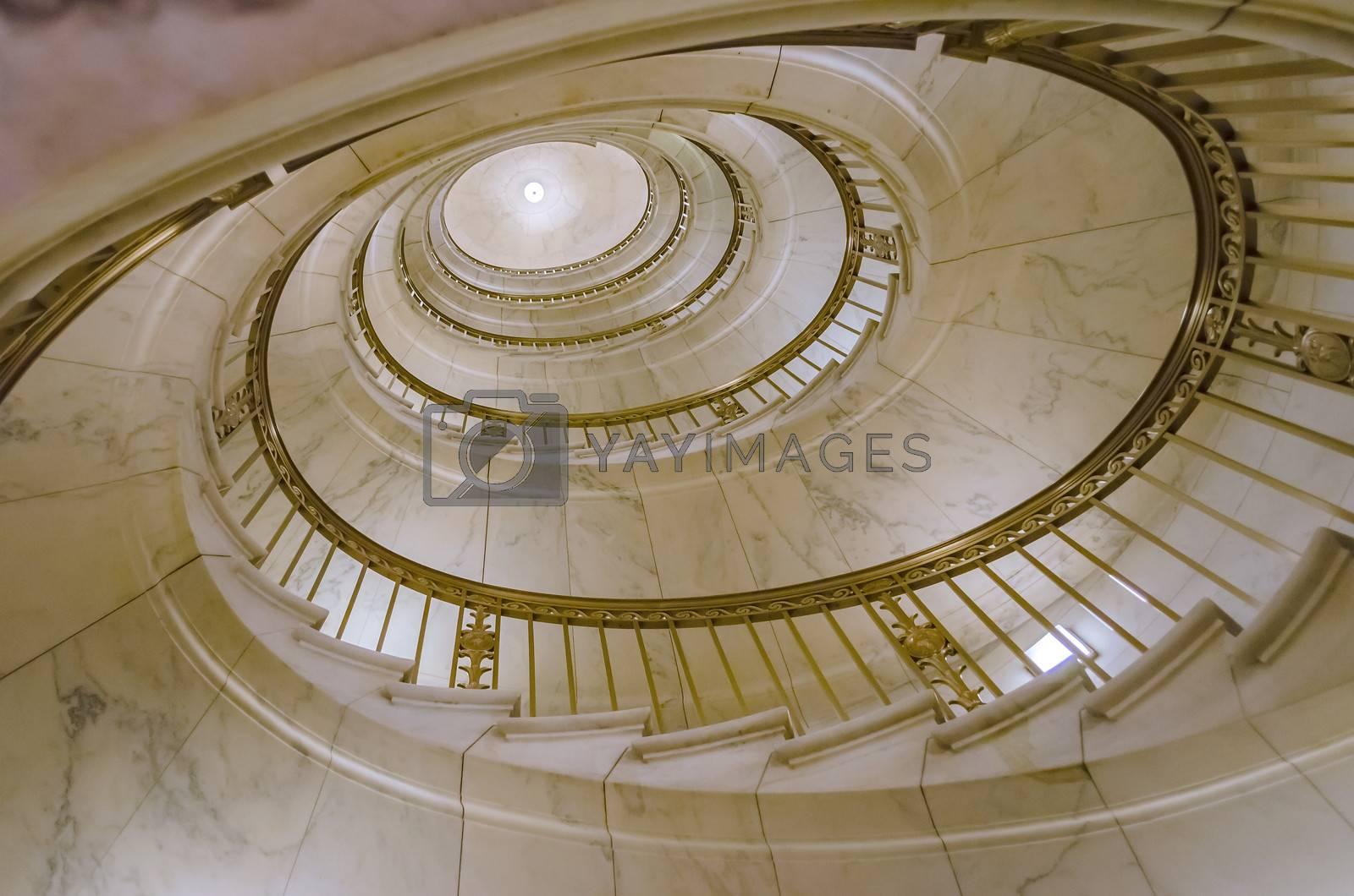 Spiral Staircase, inside Supreme Court, Washington DC, USA