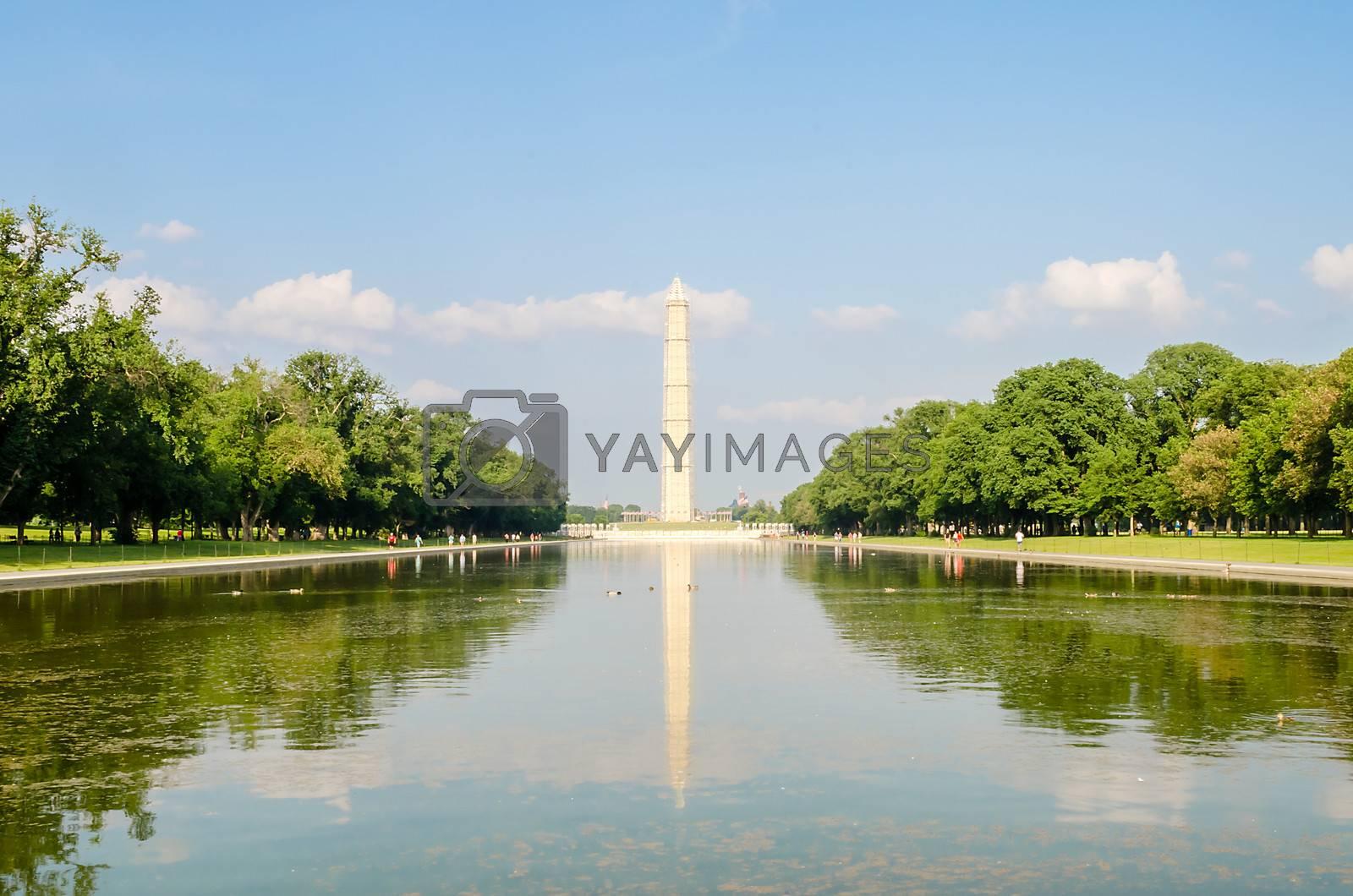 Washington Monument and Reflecting Pool, Washington DC, USA