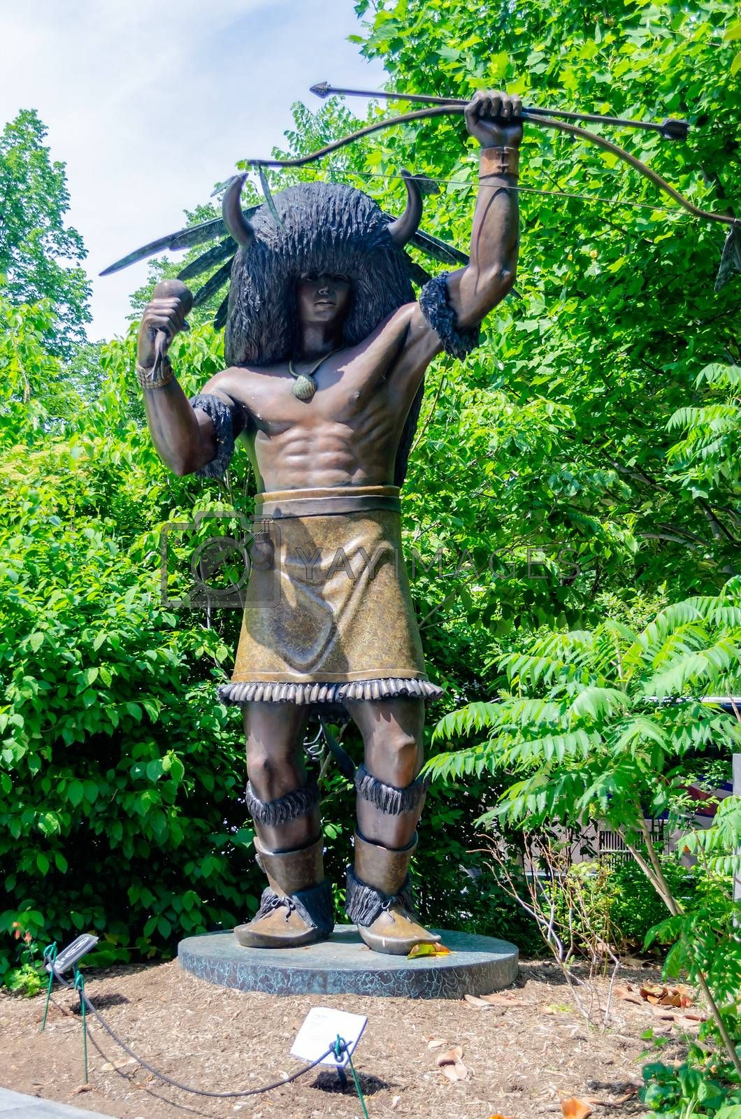 Statue of Native American in Washington DC, National Museum of the American Indian