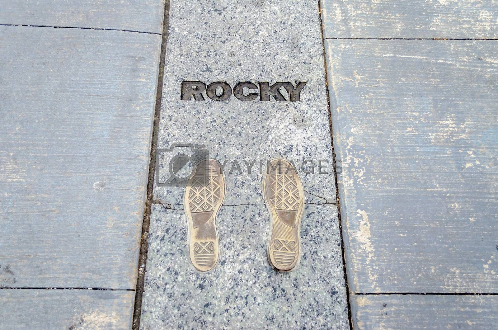 Rocky Steps, outside Phialdelphia Museum of Art, USA