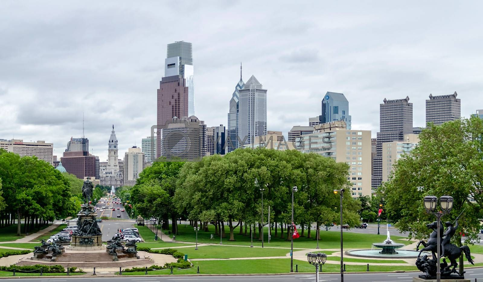 Philadelphia Skyline, daylight