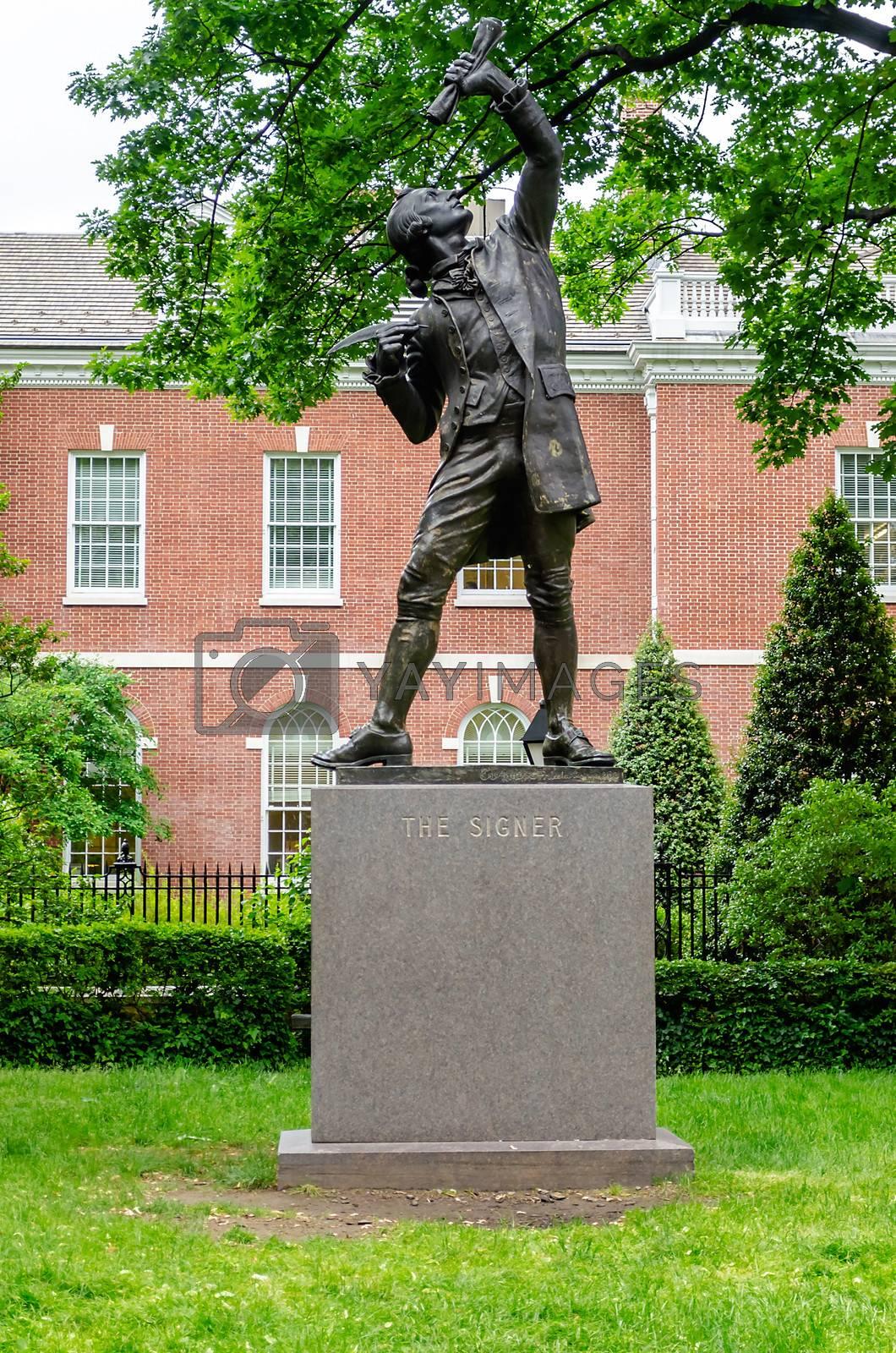 The Signer Statue, Philadelphia, USA