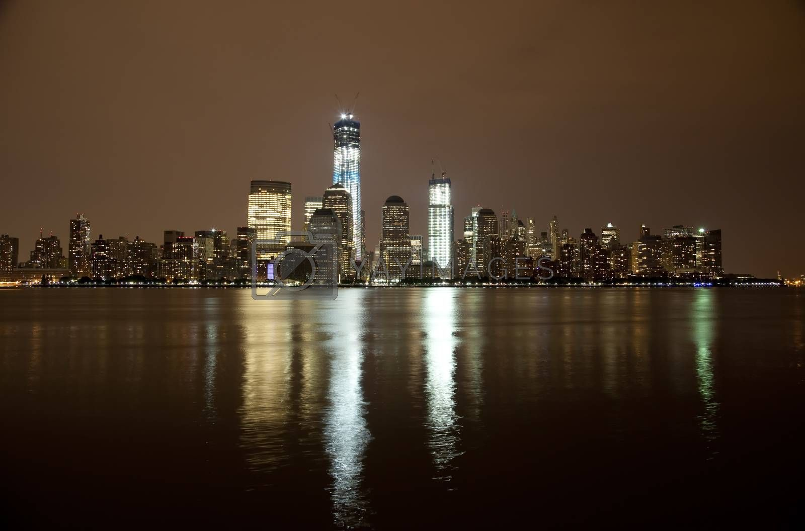 The Freedom Tower under construction at Lower Manhattan
