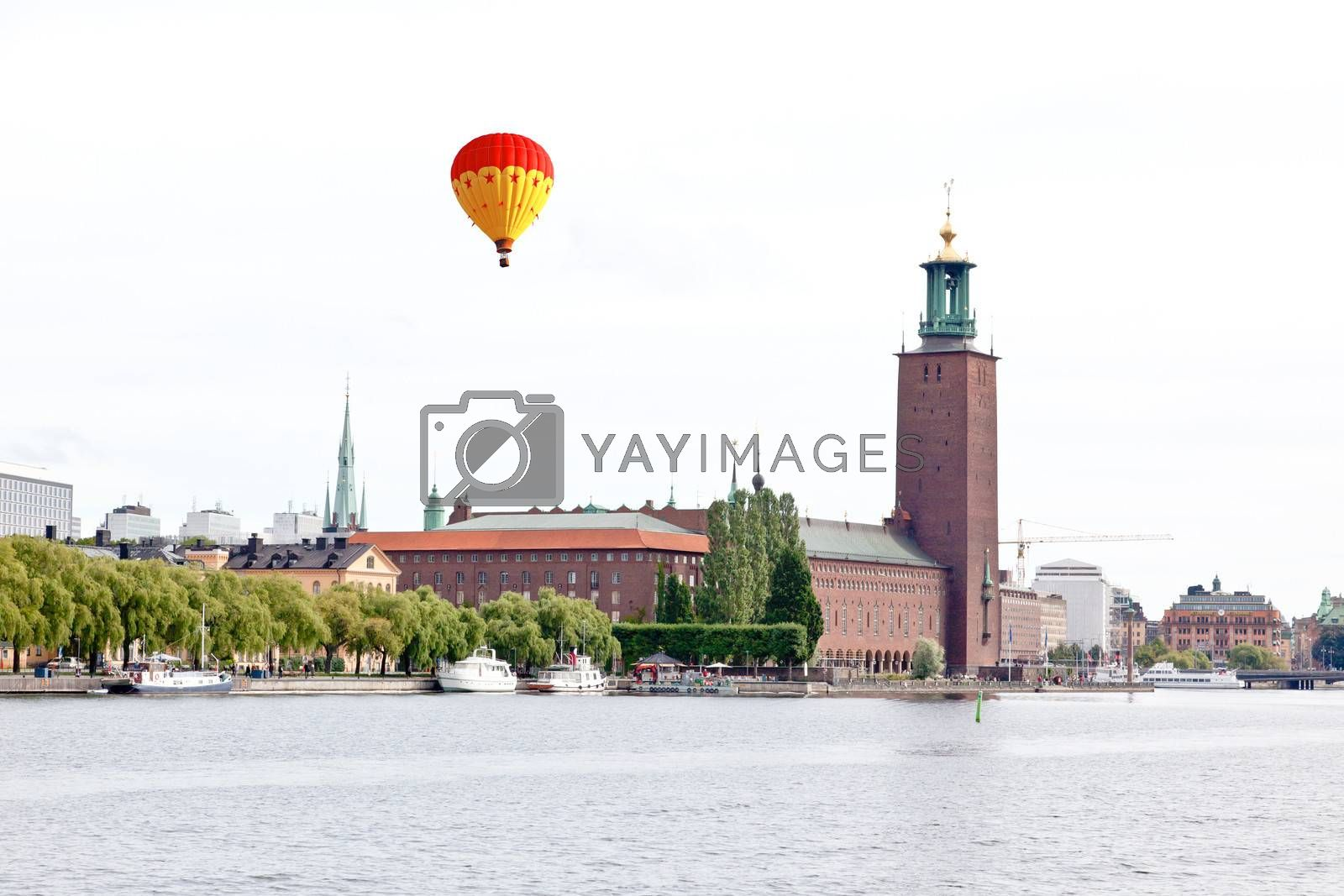 The famous City hall of Stockholm Sweden