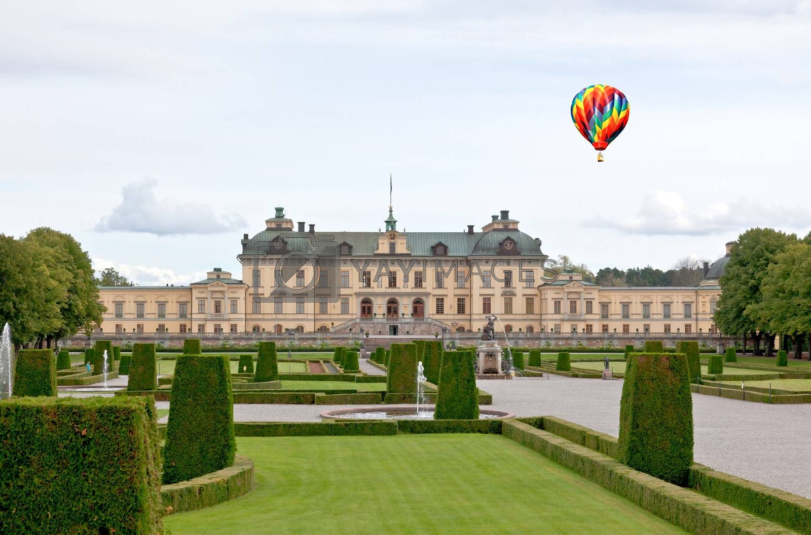 Drottningholms Palace in the Stockholm city, Sweden