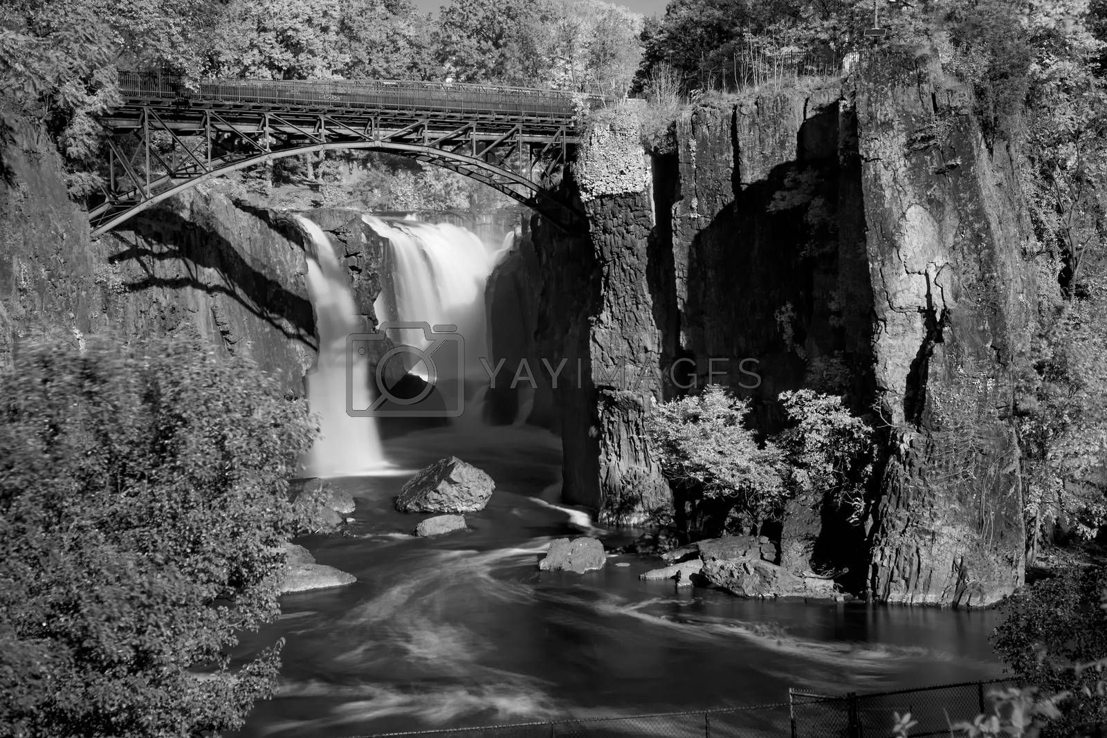 Infrared Image, the Great Falls in Paterson, New Jersey