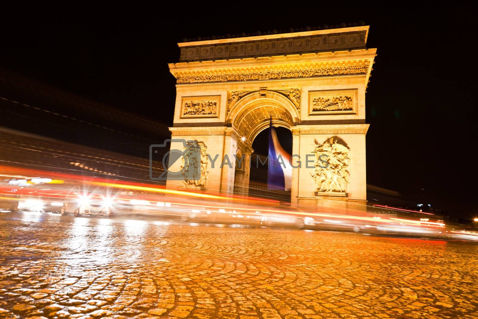 Royalty free image of The Arc de Triomphe in Paris by gary718