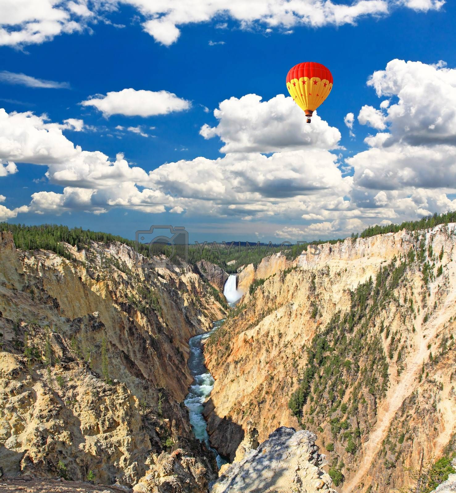 The Lower Falls in the Grand Canyon of the Yellowstone from the Artist Point