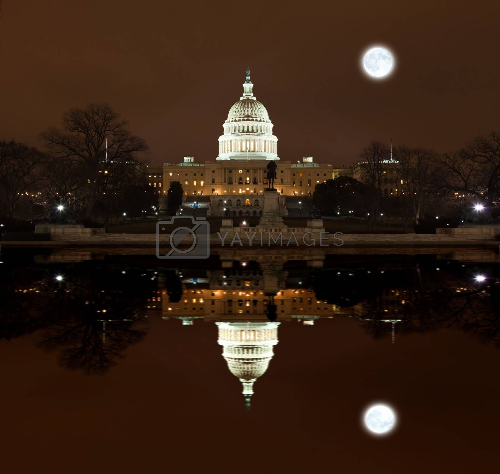 Royalty free image of United States Capitol Building at night by gary718