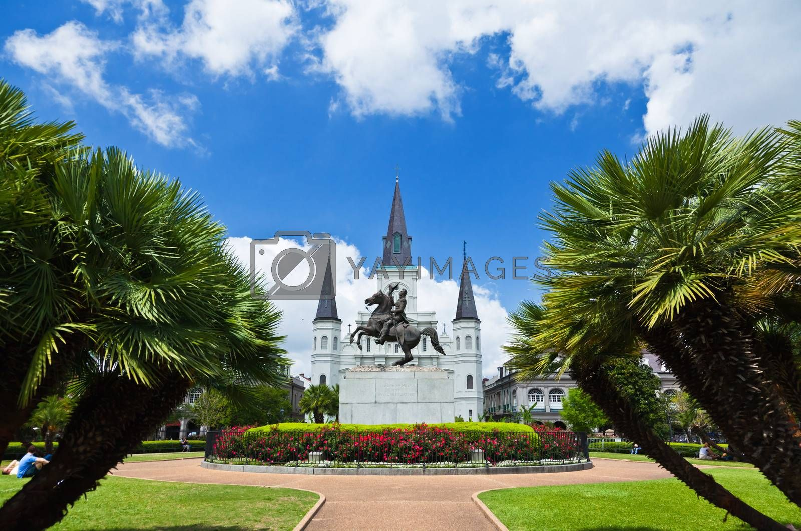 Royalty free image of Saint Louis Cathedral and Jackson Square by gary718
