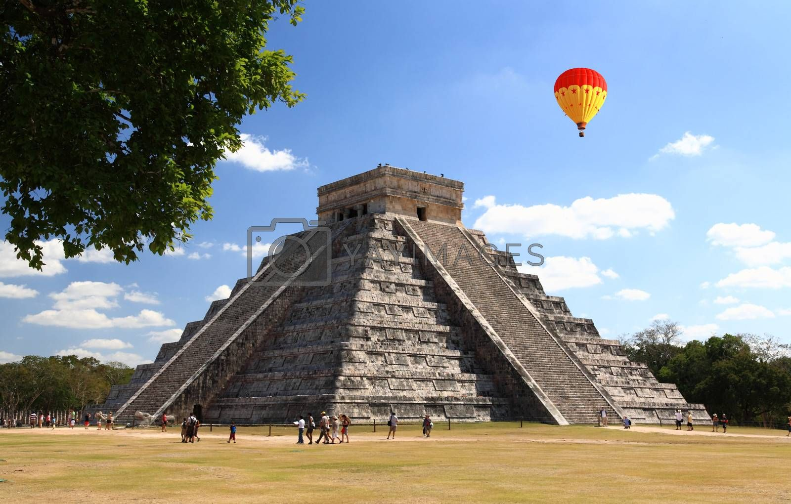 Royalty free image of The temples of chichen itza temple in Mexico by gary718