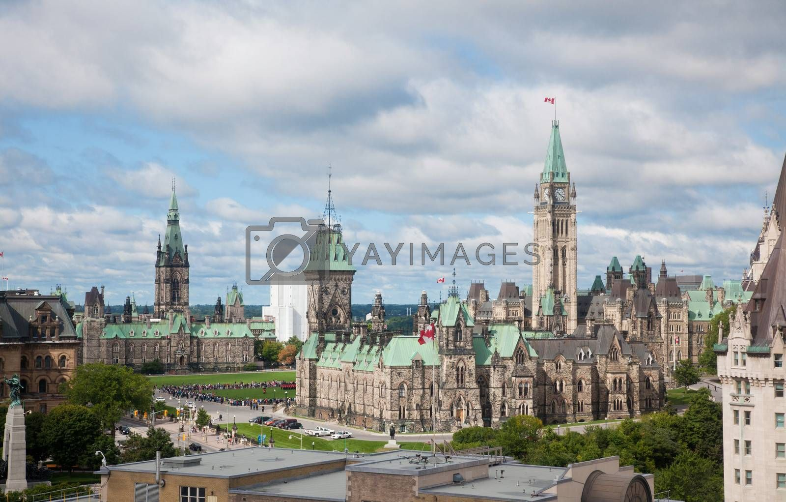 Royalty free image of Parliament Buildings in Ottawa, Canada by gary718