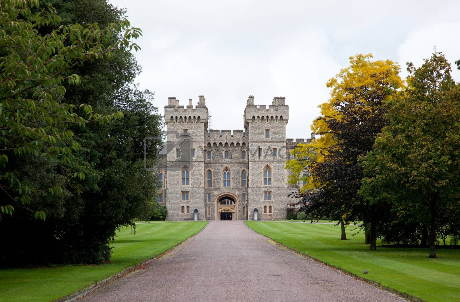 Historic Windsor Castle in the Berkshire in Southern England