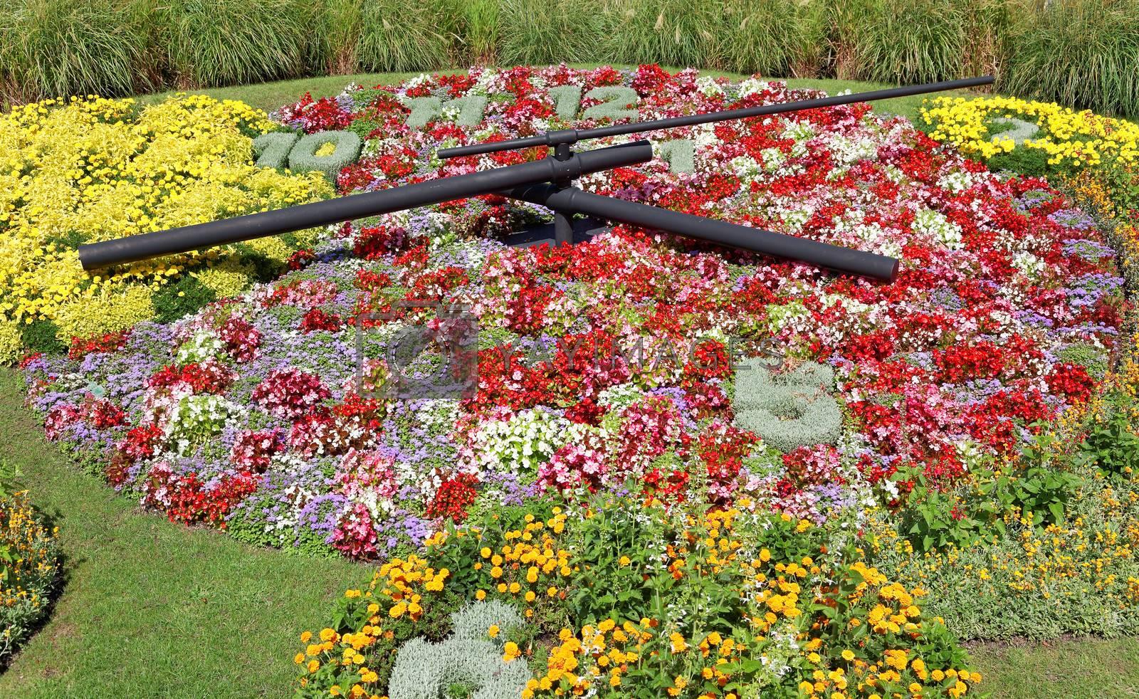 Flower Clock on Geneva city lakefront