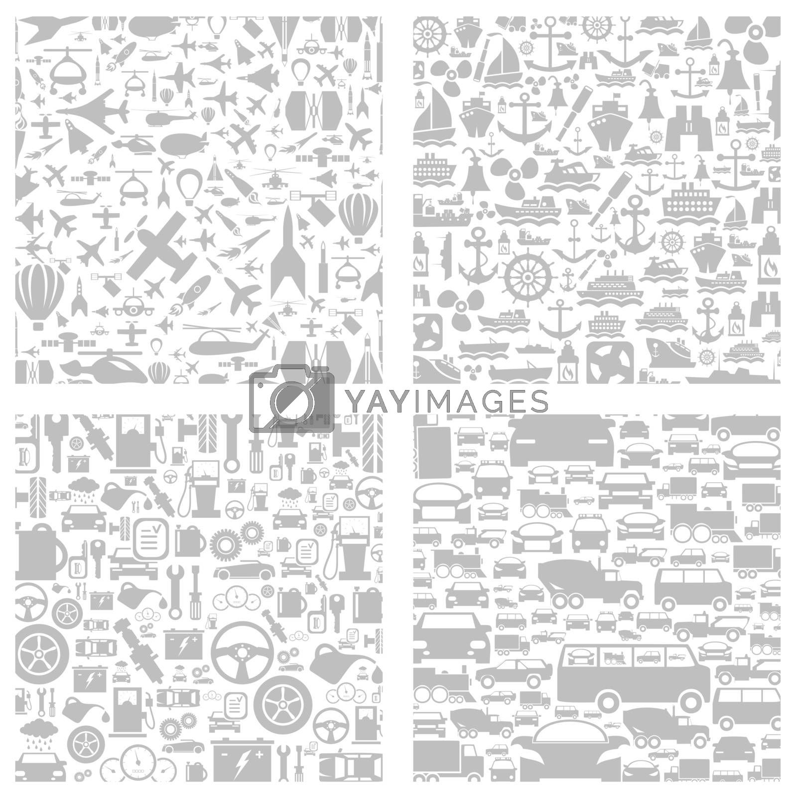 Grey background on a theme transport. A vector illustration