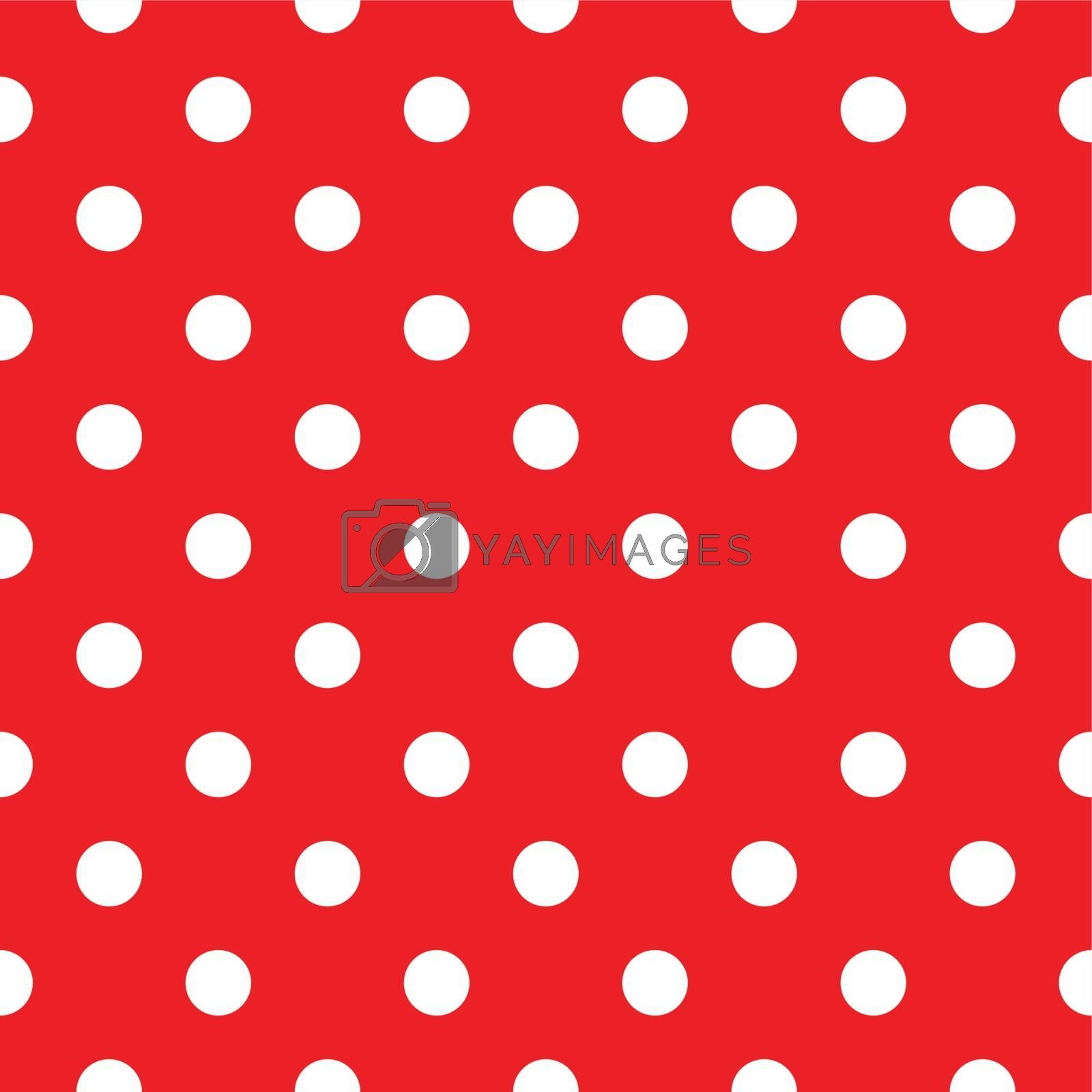 Red polka dot seamless pattern design by Lordalea
