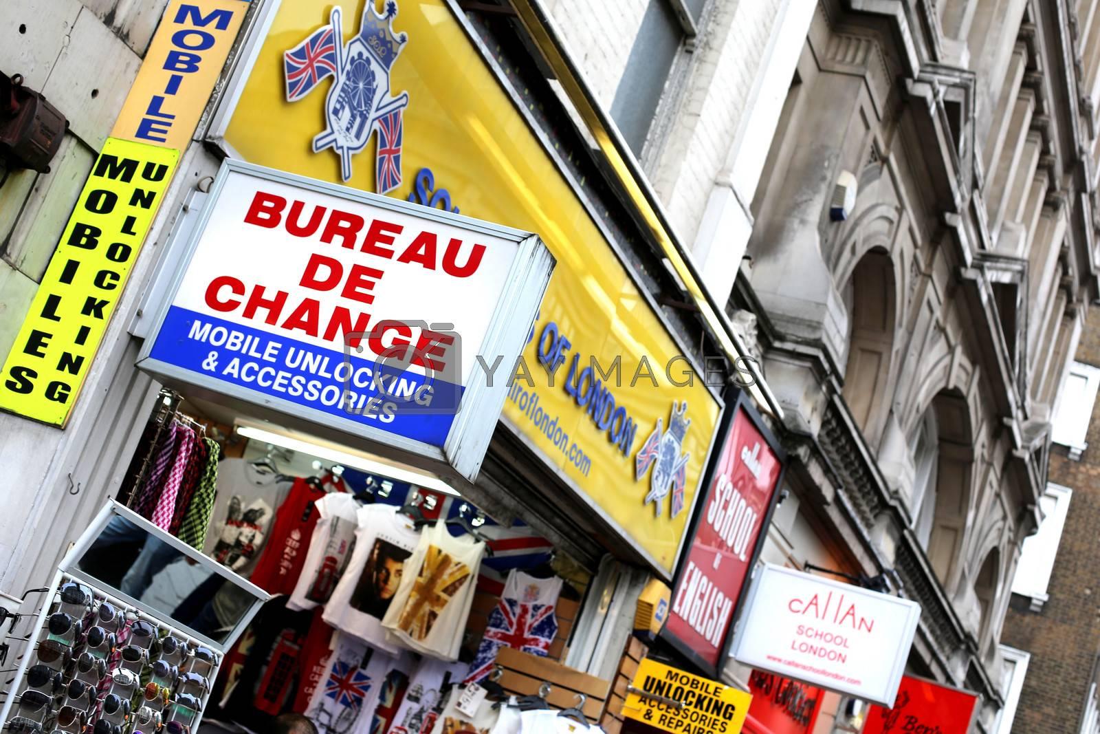 Bureau De Change Oxford Street London by Whiteboxmedia