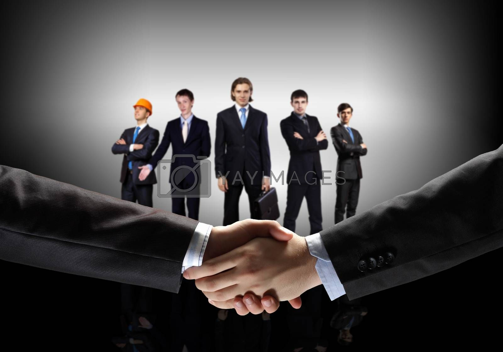 image of business handshake by Sergey Nivens