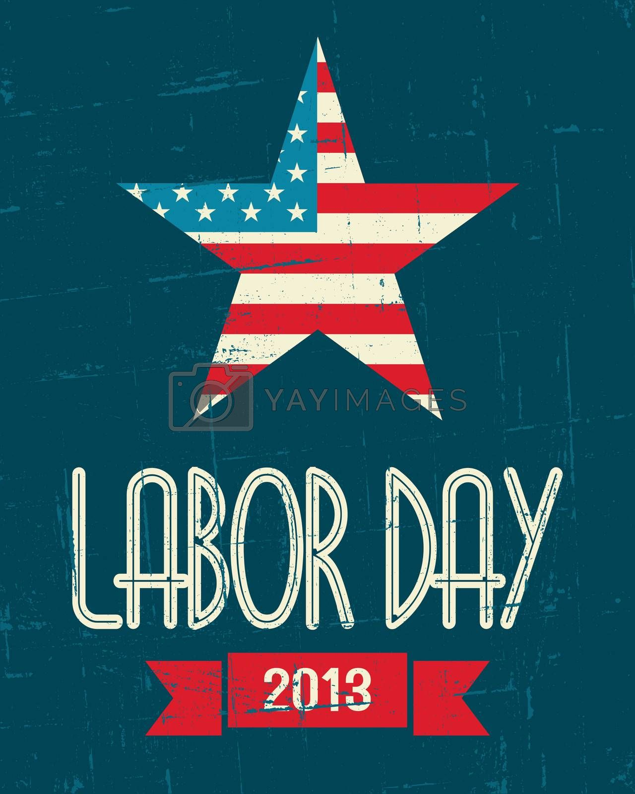 Vintage design poster for the US Labor day.
