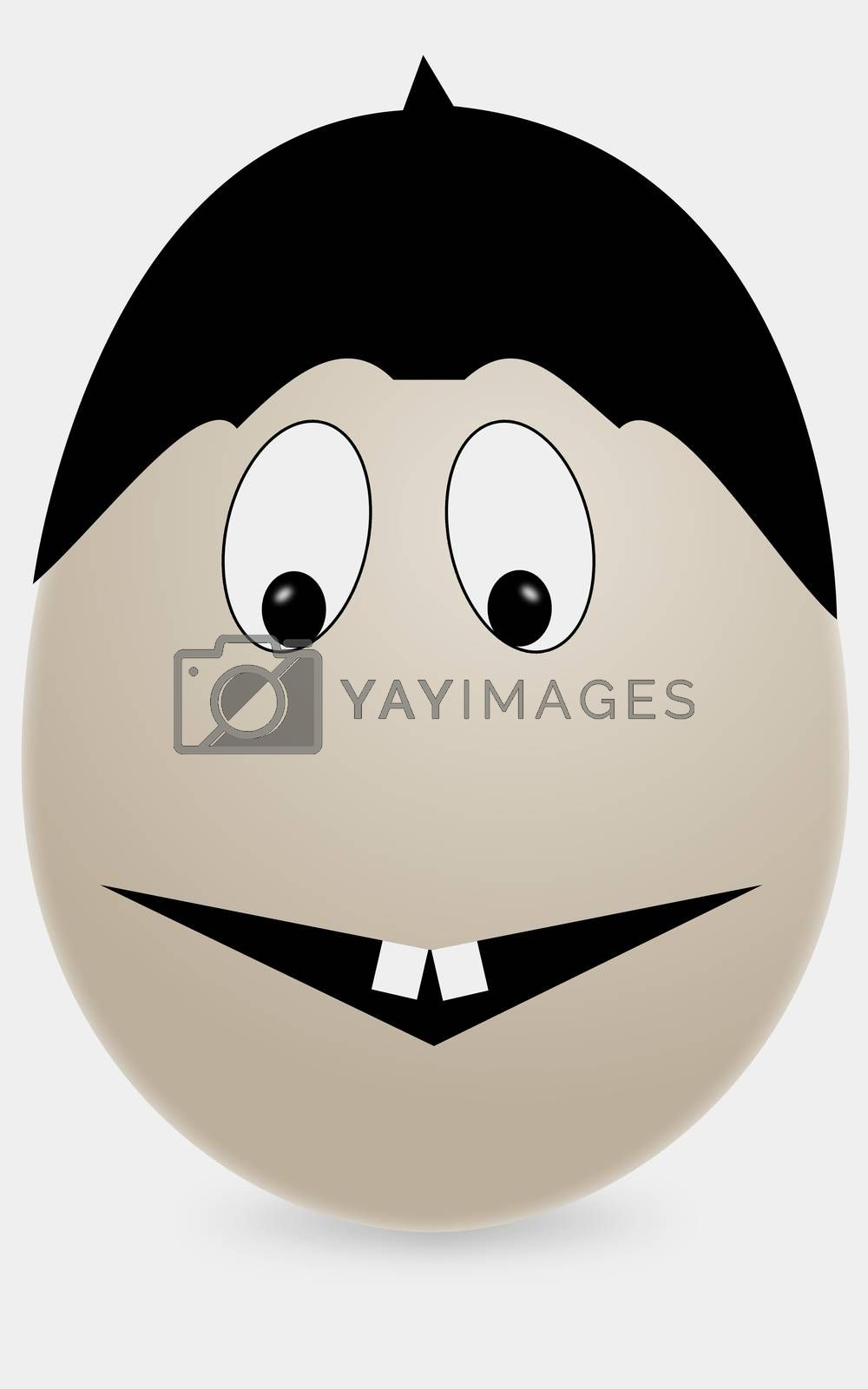 egg with happy smile