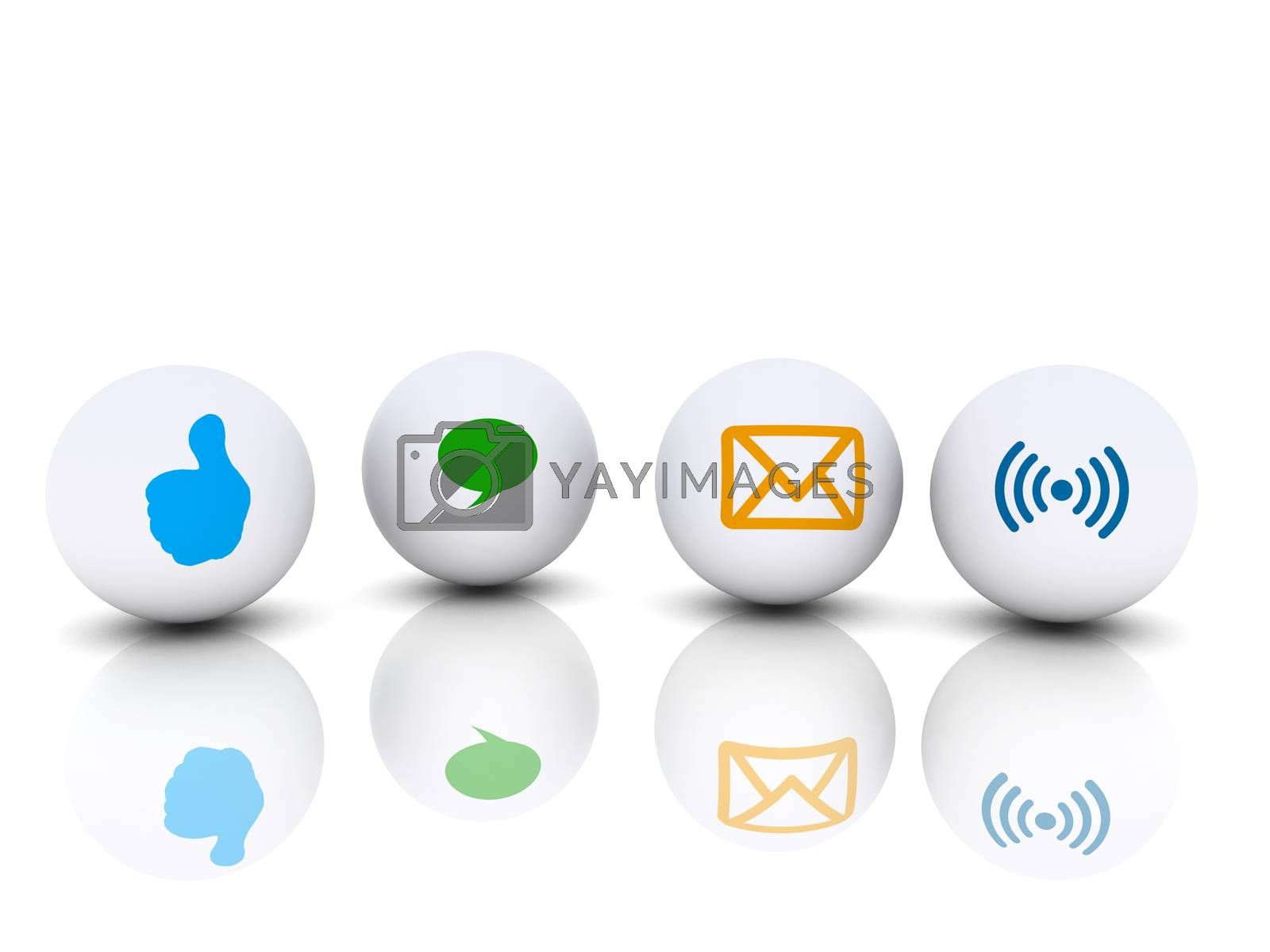 different communication icon for communicate