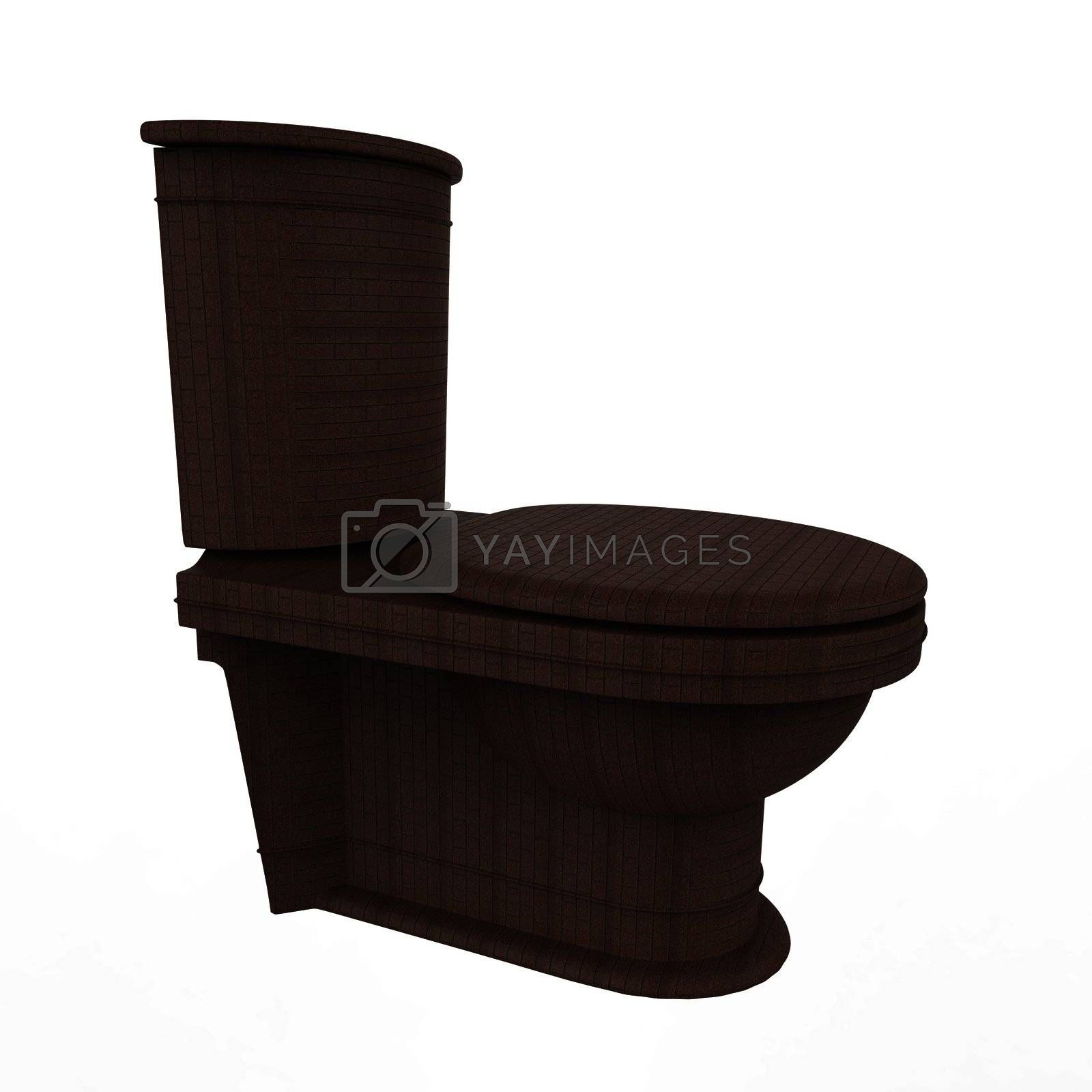 Toilet on a isolated background